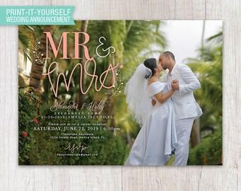 Mr & Mrs Elopement Announcement