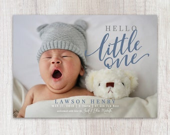 Print-It-Yourself Card - Hello Little One