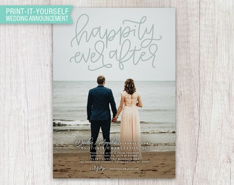 Happily Ever After Elopement Announcement