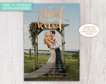 Tied the Knot Elopement Announcement