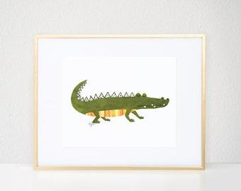 Albert the Alligator Print