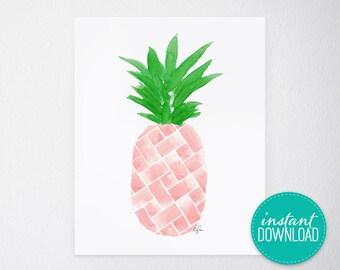 Island Citrus Pink Printable