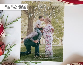 Printable Photo Christmas Card - More the Merrier