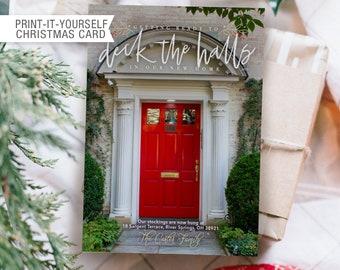 Printable Photo Christmas Card - Deck the Halls