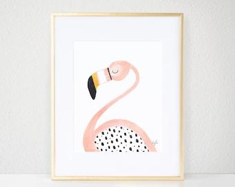 Pinky the Flamingo Print