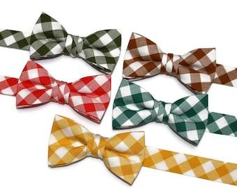 2b4c0161e27d Boys Plaid Check Bow Ties~Boys Bow Tie~Boys Bow Ties~Cotton Bow Tie~Gingham  Bow Tie~Church Tie~Plaid Bow Tie~Boys Fall Bow Tie~Fall Tie