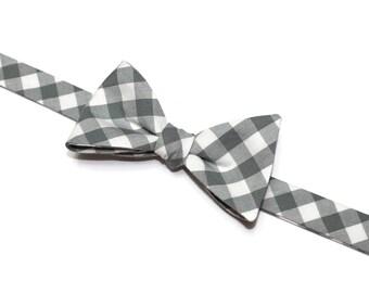 SALE~Bow Tie~Gingham Bow Tie~Mens Self Tie Bow Tie~Cotton Tie~Mens Bow Tie~Preppy Gift~Groom~Groomsmen~Anniversarry Gift~Cotton Tie~