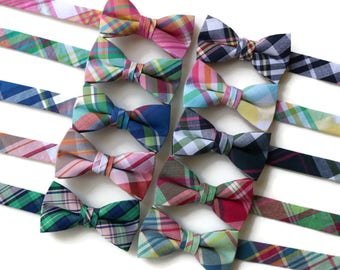 23d61e761328 Boys Madras Plaid Bow Ties~Boys Bow Tie~Boys Plaid Bow Ties~Cotton Bow Tie~Navy  Bow Tie~Church Tie~Plaid Bow Tie~Wedding~Ring Bearer~Gift