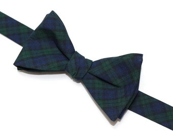 Adult Men/'s Blue Plaid Red White Formal Pretied Elastic Necktie Accessory Bowtie