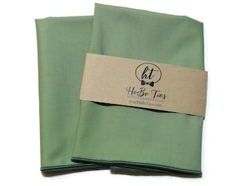 Sage Green Cotton Pocket Square~Wedding Accessory~Anniversary Gift~Preppy Gift~Mens Cotton Pocket Square~Solid~Pocket Square~Celedon Kona