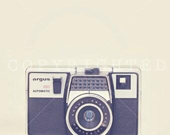 vintage camera color print (5x5)