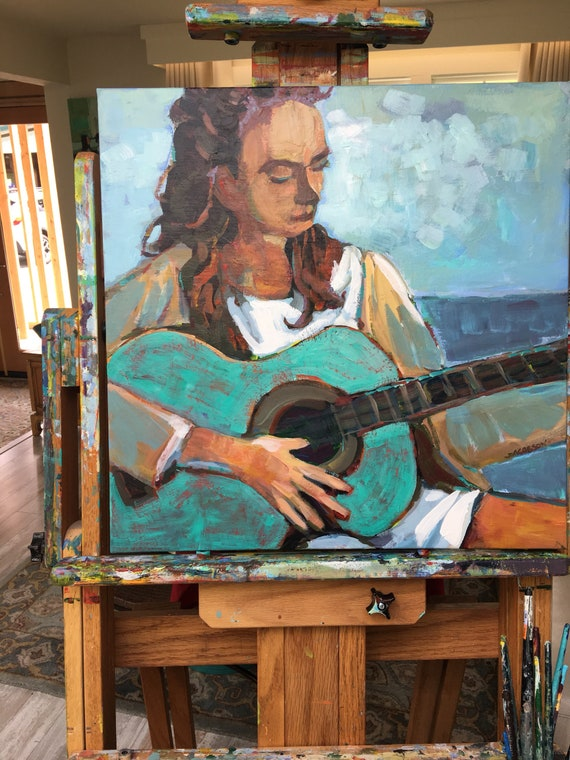 Goddess with Guitar