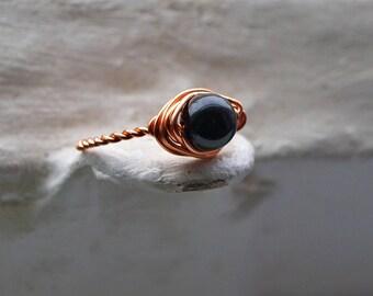Black Tourmaline Ring - Black Tourmaline Jewelry - Black Tourmaline Crystal - Protection Jewelry, Protection Stone, Protection Ring Crystals