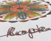 Letterpress Modern Hex Sign Design Composite print for Love, Hope, and Luck - Barn Star