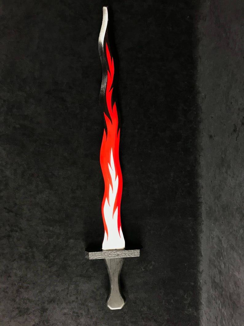 Flame Kris Long Sword 32 Wood White Pine Etsy