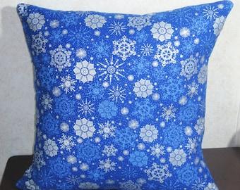 Snowflake Envelope Pillow Cover 16x16