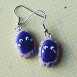 Kawaii Grape Pastry Baker Earrings Polymer Clay Jewelry Lolita Harajuku Asian Fashion Accessories Free Shipping USA