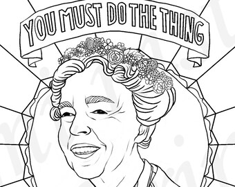 Eleanor Roosevelt, Portraits, Coloring Pages for Adults, Colouring Pages, PDF, Printable