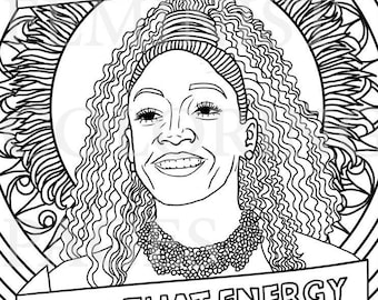 Michelle Obama First Lady Feminist Coloring Portraits Etsy
