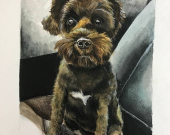 "Custom animal portrait (5""x7"")"