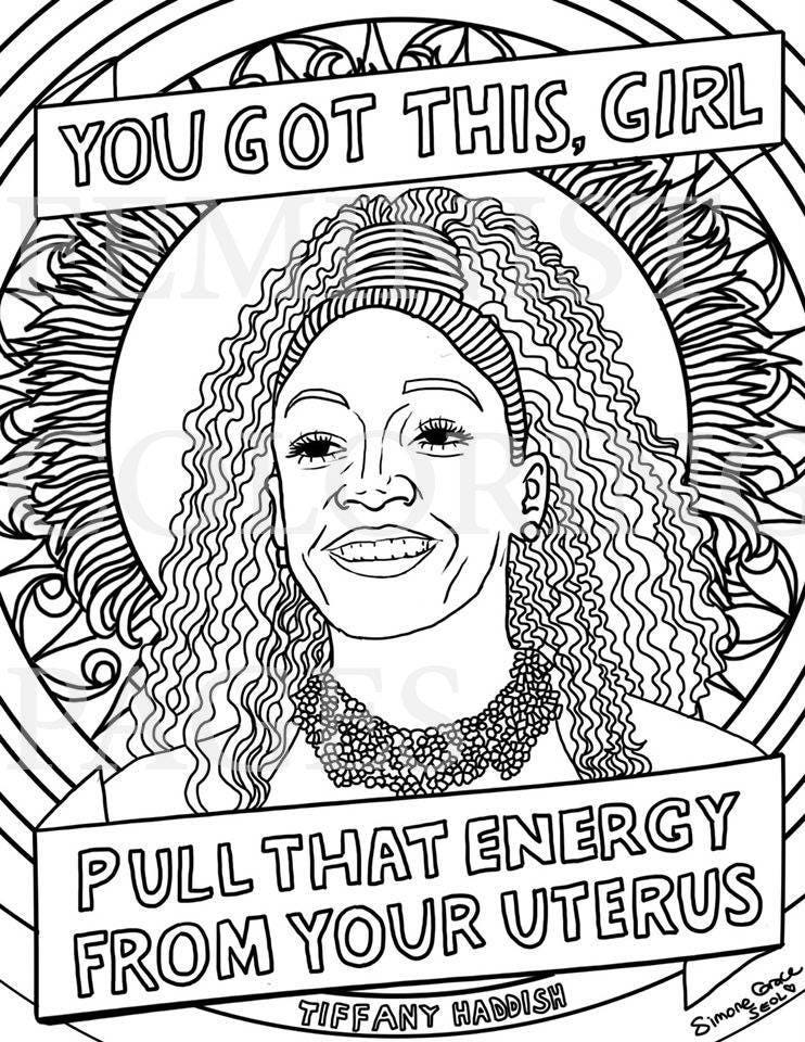 - Tiffany Haddish Portraits Coloring Pages For Adults Etsy
