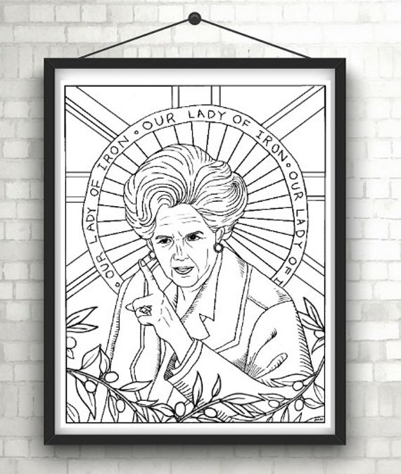 Margaret Thatcher Iron Lady Portraits Coloring Pages for | Etsy