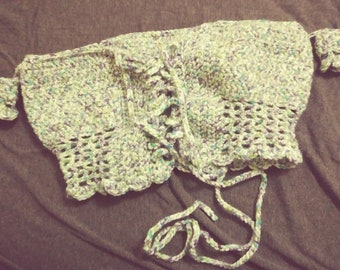Crochet off shoulder crop top
