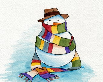 Doctor Who Snowman print