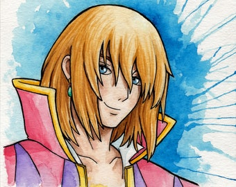 ORIGINAL Howl watercolor