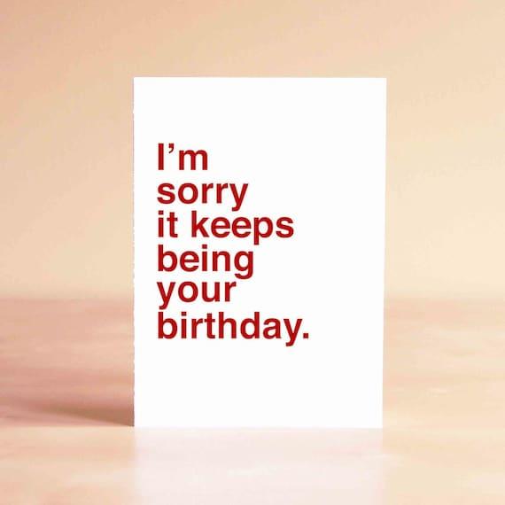 Funny 30th Birthday Card Funny 40th Birthday Card Friend Etsy