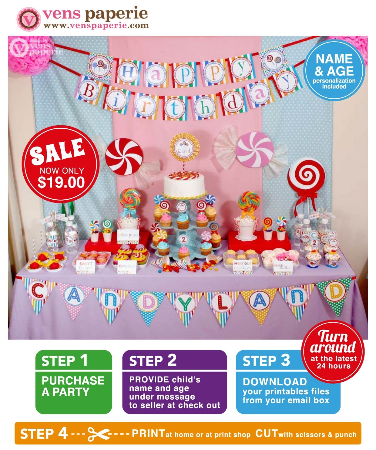 Candyland Birthday Party Package Personalized FULL Collection