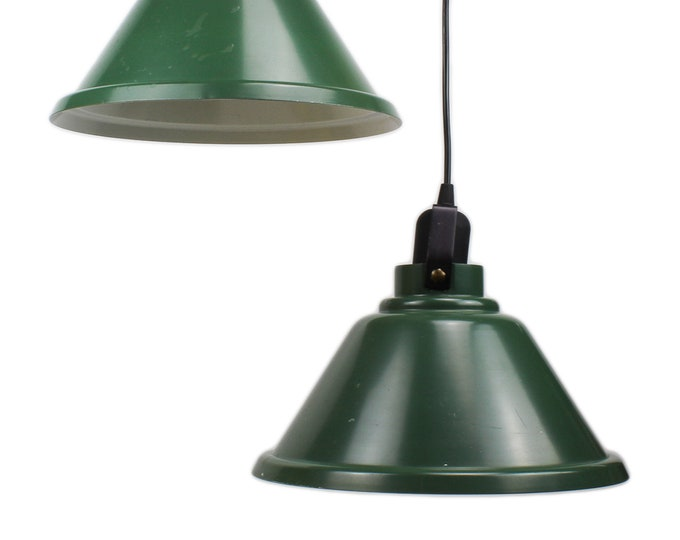 Small Green Industry Pendant Lamp, 60s-70s