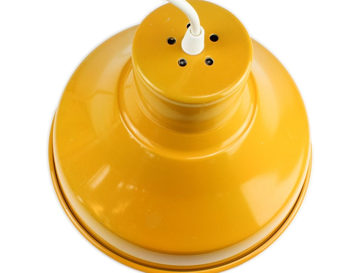 Small Yellow Industry Pendant Lamp, 60s-70s