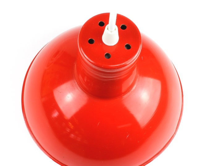 Small Red Industry Pendant Lamp, 60s-70s