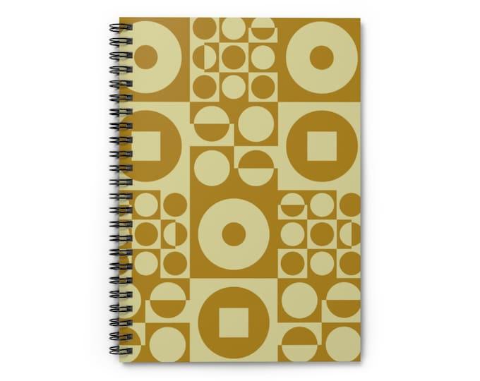 Spiral Notebook - Vintage Iconic 70s Design - Olive Green
