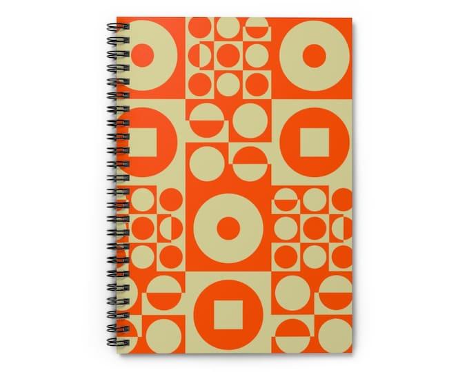 Spiral Notebook - Vintage Iconic 70s Design - Orange