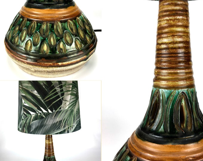 Vintage Danish Glazed Stoneware Table Lamp by Tingkeramik Følle,  1960s