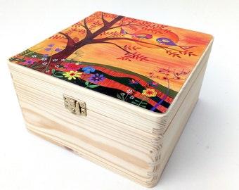 Save Forever Box Wood Treasure Trinket Keepsake Box W Photo