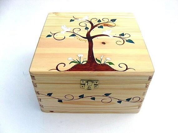 Personalized Hand Painted Orange Halloween Striped Wooden Keepsake Box Halloween Candy Box Memory Box Gift Box