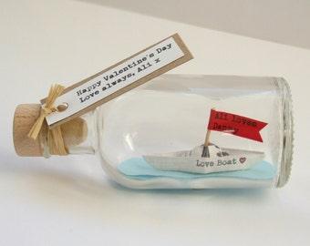 Love Boat Romantic Anniversary Gift - Wedding Anniversary Custom Gift - Valentine's Day Gift - First Anniversary Personalised Gift