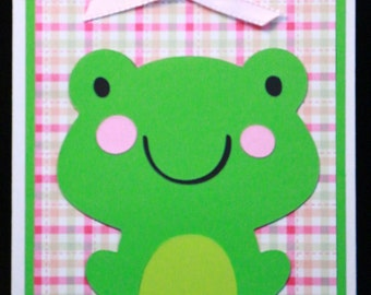 Pink Hoppy Birthday Card