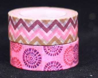 Pink Dots and Chevron Washi Tape Set