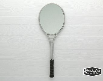 Vintage Tennis Racket Mirror FREE-SHIPPING, Wall Hanging, Looking Glass, Racquet, Game, Sports, Home Decor, Retro, Upcycled, Repurposed