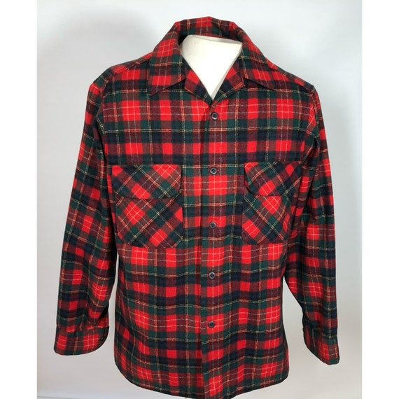 Vintage Pendleton Wool Board Shirt Christie Tartan