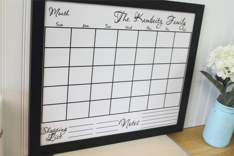 Framed Dry Erase Wall Calendar Cursive Modern Style Etsy