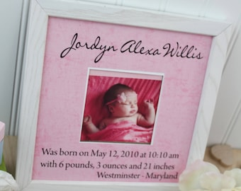 Personalized baby boy picture frame christening gift baptism baby gift custom baby photo frame gift new baby gift personalized frame baby photo frame personalized baby gift christening gift negle Choice Image