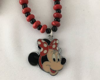 Minnie Mouse Necklace  Disney Necklace Princess Necklace Little Girls, Girls, and Teens Jewelry