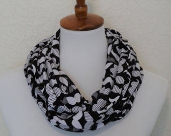 Mustache Scarf, Hipster Scarf, Infinity Scarf