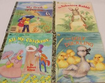 4 Little Golden Books 1985,1992,1993 1995