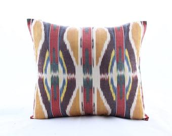Handmade Pillows,Traditional Ethnic Pillowcases Modern Silky Decorative Pillows Berzey Pillows Luxurious ikat Pillows